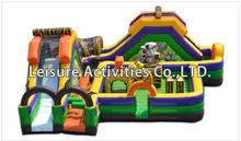 hot sale China inflatable jungle adventure play ground combo