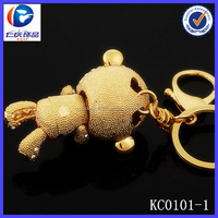 New Design Fashion The rugged brown bear shaped 3D printing metal keychains