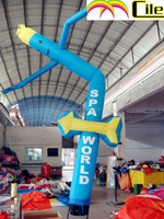 CILE 2014 mini bule inflatable air dancer for event