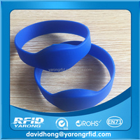 Top quality hot sell Passive UHF RFID Wristband/nfc silicone wristband with logo for Events/Gym/Hospital