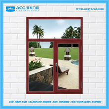 Alibaba China surface treatment for Wooden brown aluminum windows