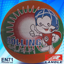 promotion cheap size 5 rubber basketball