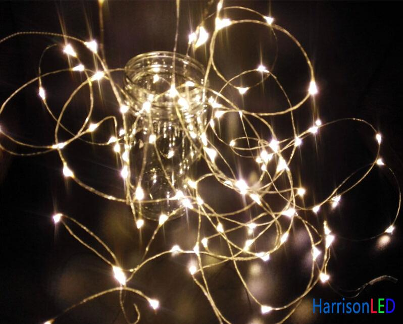 Mini String Lights On Wire : Wholesale 10meters 100 super bright mini LED fairy lights on silver wire, fairy starry string ...