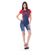 2015 Popular Fashion Design Ladies Medium Blue Overall Jeans