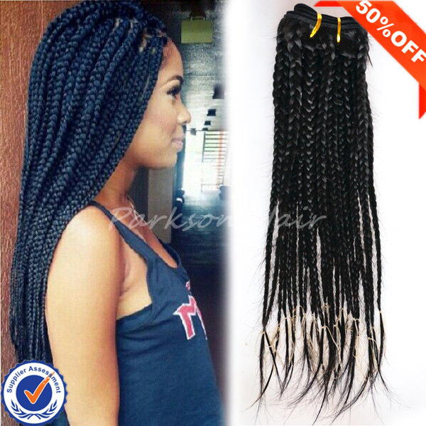 Crochet Box Braids Sale : Hot sale box braid hair crochet braids with human hair cheap braiding ...