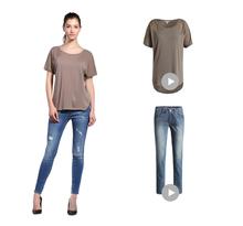 Fashion OEM girls blank ruffle sleeve t shirt