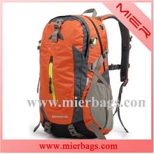 orange waterproof travel backpack outdoor camping mochilas climbing hiking backpack bag