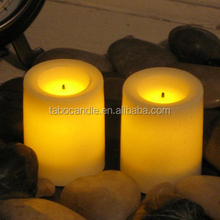 Candle Impressions Ombre Design Pillar Real Wax Flameless Candles w/Auto Timer Feature