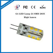 2015 eyes protection smd bulb 140lm-160lm DC12V g4 led lights