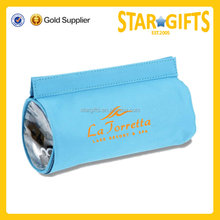 Supplier Low MOQ New Type Foldable Clear PVC Roll Toiletry Bag