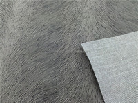Feather Design Gold Stamping Suede for Sofa for Russian Market