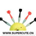 Novos produtos quentes para 2014 forma mini-prego plástico descartável garfo frutas de plástico