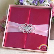 Wholesale silk wedding invitation box