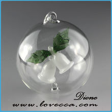 Popular and beautiful best hanging clear glass ball christmas