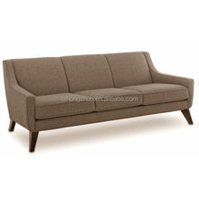 Contemporary indoor furniture sofa set, modern lounge suite of fabric and wood 322#