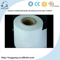 jumbo roll virgin wrapping Paper for Baby diaper and sanitary napkin