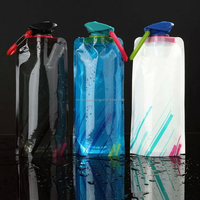 2015 High quality BPA free folding water bottle/rolls water bag