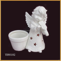 lovely ceramic christmas angel with pot decoration
