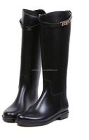 Lostlands high quality handsome classic women's comfortable rain boots women's long boots rainboots fashion buckle
