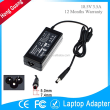 Hot selling laptop charger for hp 18.5v 3.5a 65w ac adapter for wholesales