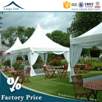 Clear span aluminum frame hot sale camping pagoda tent