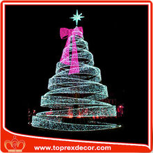 20ft outdoor white metal LED lighted Christmas tree