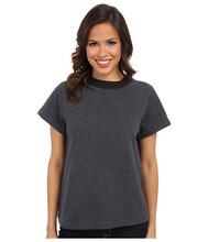 Custom compression round neck tape blank women t shirt