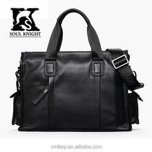 SK-T002 classic men leather tote bag wholesale manufacturer