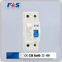 2pole earth leakage circuit breaker, rccb electrical circuit breaker switch, 2p 16a earth leakage circuit breaker