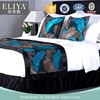 ELIYA Factory Cotton White Hotel Stitching Bed Sheet Linen Set