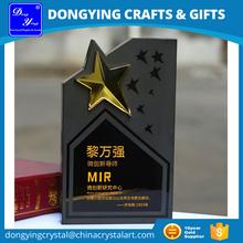 Custom Name Engraving Black Crystal Star Trophy Award DY-JP8162