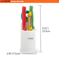 unique novelty colorful promotion kitchen gift knife set