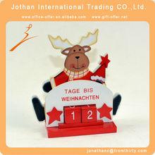 reno de navidad de madera calendario de adviento