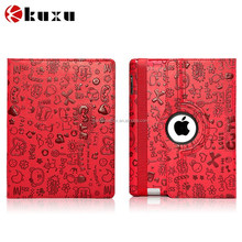 Fashion competitive price 360 degree rotate leather case for iPad 2 3 4