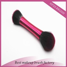 Multifunctional metal handle Face Make Up Used Double Sided Powder Brush