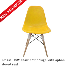 PP plastic chair with wood legs / eames dining chair