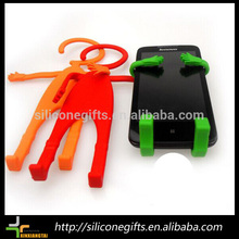 Chegada nova flexível de silicone telefone celular titular, silicone celular gancho