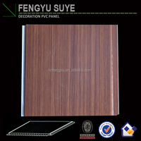 Artistic wood color pvc false ceilings wall panels for house decoration by china manufacturer