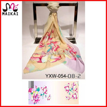 Big size floral print wool pashmina shoulder scarf wrap