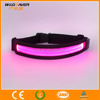 LED sport light up waistbelt custom usb rechargeable