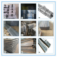 Hot rolled Galvanized Perforated Square Sign Posts with holes