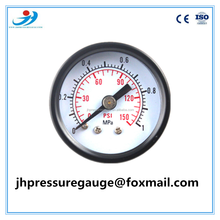 (Y-50) factory selling common pressure gauge axial mounting dual scale for customized pressure range