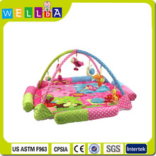 Best selling soft plush baby play mat with sides
