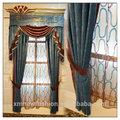 Cortina artesanal para a porta, cortina de fantasia valências, técnica de bordado jacquard cortinas com valência