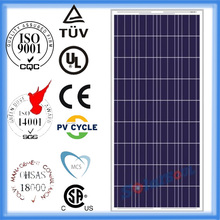 Best quality solar panel 135w cheap poly crystalline silicon solar panels with tuv ul and product warranty