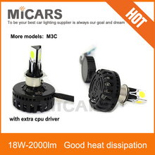 Best heat dissipation separate driver 18w 2000lm motorcycle LED headlight