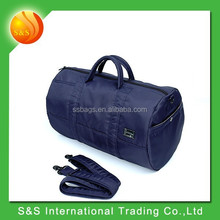 2015 Stylish navy blue Polyester Weekend mens travel bag