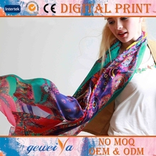 Chiffon Printed Flower Stoles And Shawls