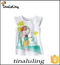 children cute cheap plain white t-shirts baby girls 100%cotton sexy girls printed t-shirt