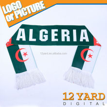Welcome Customized Europe Soccer Clubs Customized Designs Double Layer Knitting pattern jacquard acrylic woven scarf